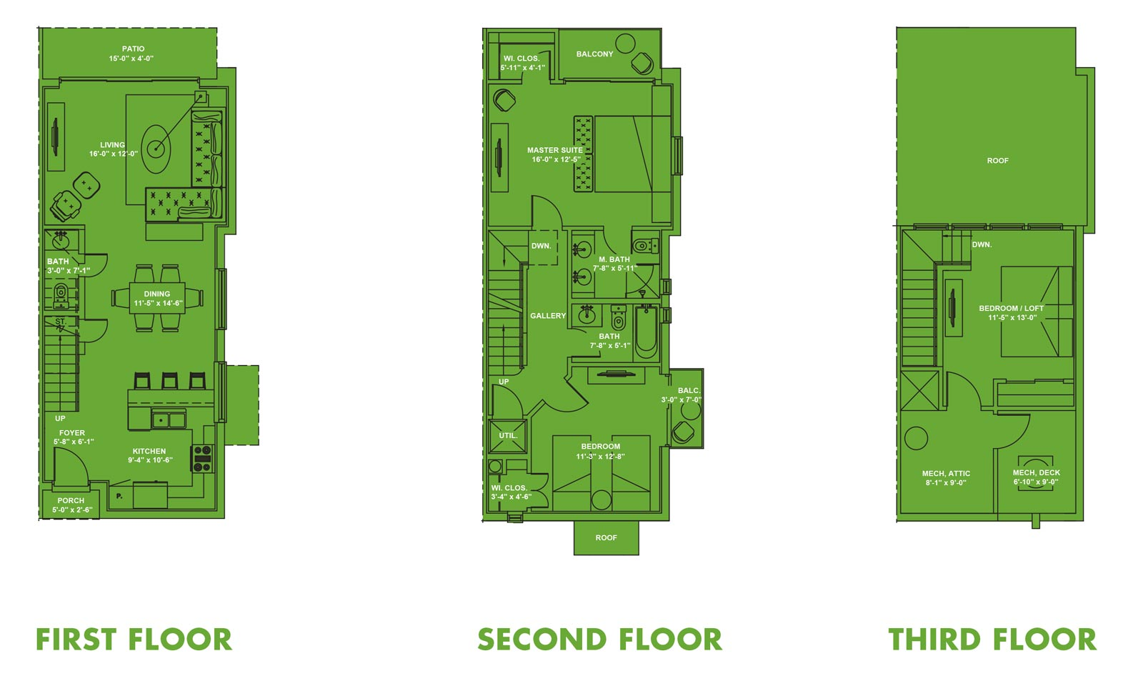 Las Velas Village Unit A Floorplan